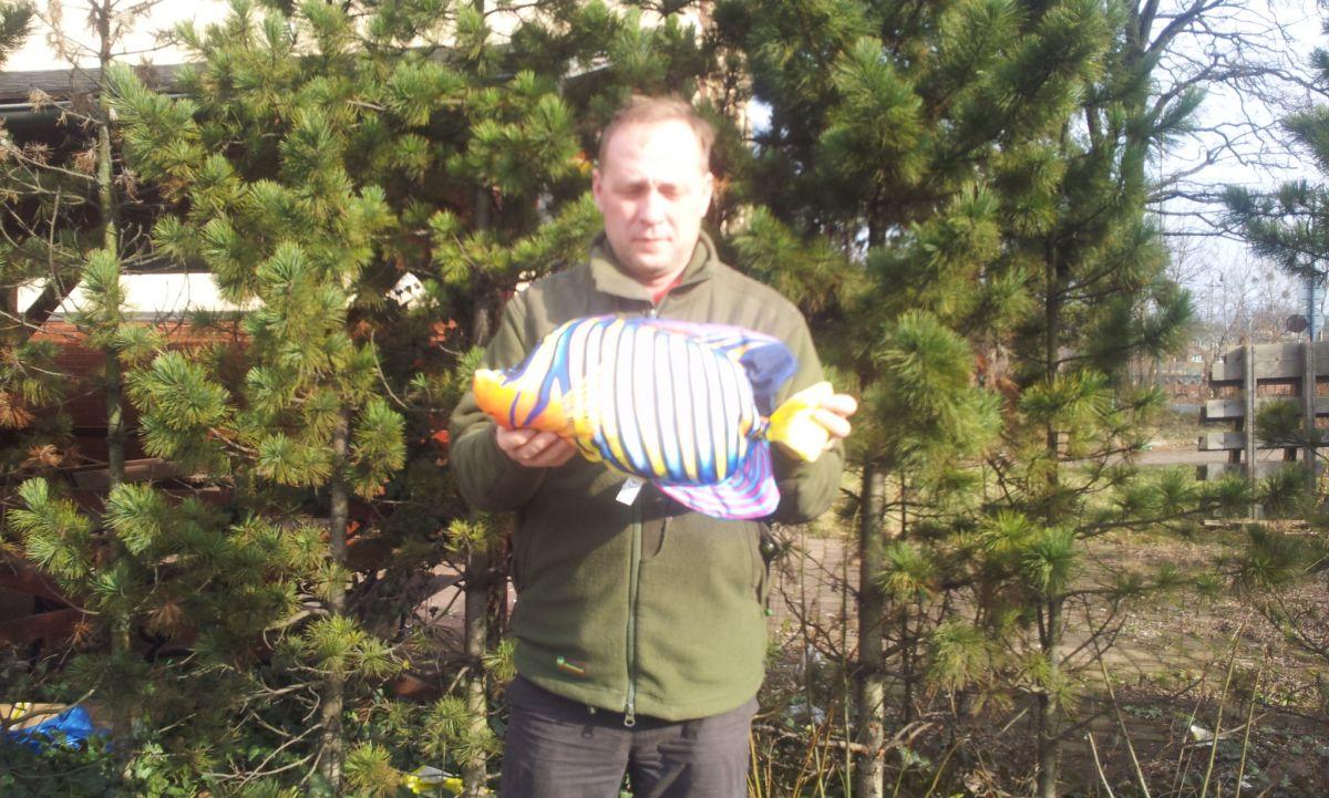 Polštář Barevná pruhovana Mořská ryba 50cm Gaby
