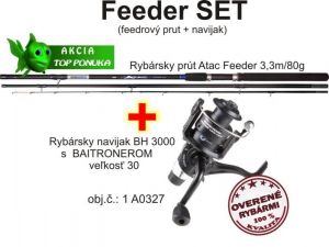Akce feeder 3,3m / 80g + feeder baitrunerový naviják