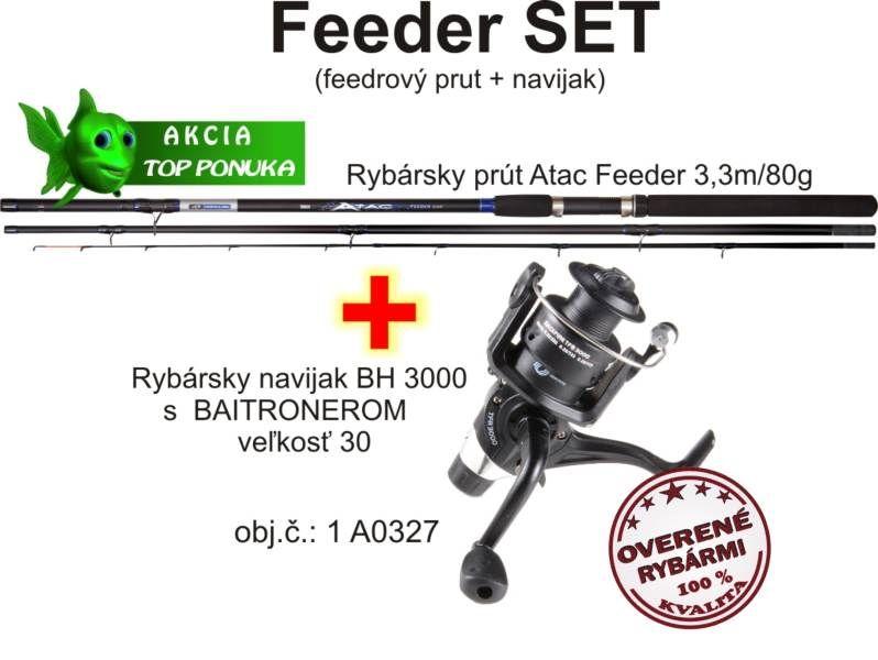 Akce feeder 3,3m / 80g + Naviják s volnoběžkou AKCIE