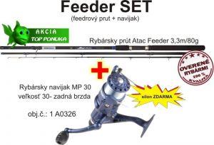 Akce feeder 3,3m / 80g + feeder naviják zadní brz. + silo