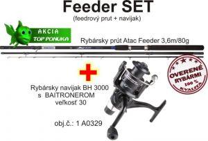 Akce feeder 3,6m / 80g + Naviják s volnoběžkou