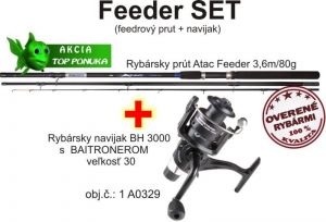 Akce feeder 3,6m / 80g + feeder baitrunerový naviják