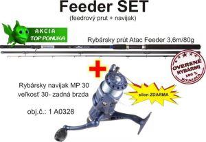 Akce feeder 3,6m / 80g + feeder naviják zadní brz. + silo