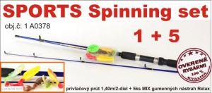 AKCE SPORTS 5 + 1: přívlačových prut + 5ks RELAX nástrah
