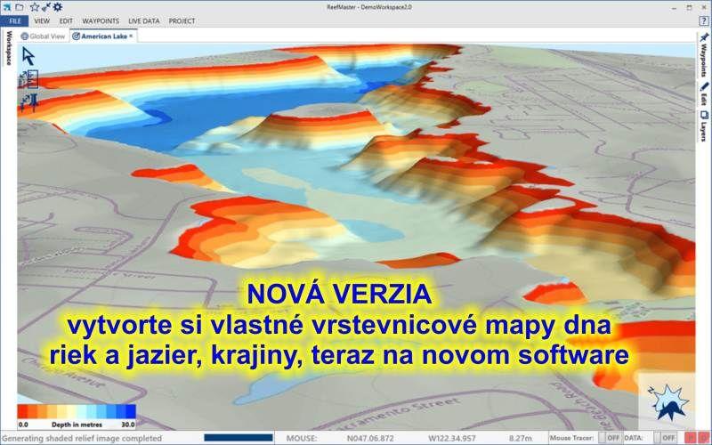 software HDS 3D prostorový modeling II. v2.0 Navico