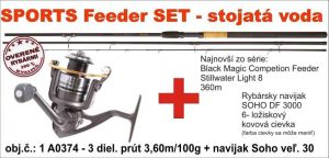 SPORTS Feeder set Stojatá voda 3,6m / 80gr