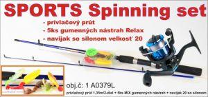 SPORTS Spinning set 1 + 6 prut a 5ks nástrah + naviják