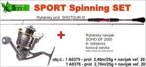 SPORTS Spinning SET 2,40m / 25gr + SOHO naviják vel. 20