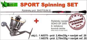 SPORTS Spinning SET 2,70m / 25gr + SOHO naviják vel. 20