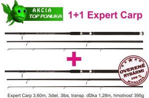 akce 1 + 1 44 1082361 x2 cool carp 3,6m / 3dílné / 3lbs