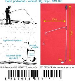 Podvodní bójka 60g / 74cm / 31cm