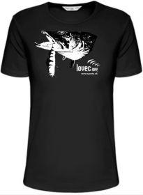 Rybářské tričko štika ulovená na wobbler. M