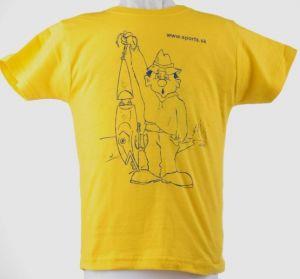 Tričko dětské Rybář s wobbl.žluté č.7(dítě7-8roků)