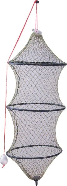 Vezírek na ryby 225cm/š.50cm - 3 kruhy bezuzlová