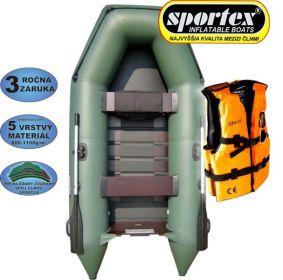 AKCE - Člun Sportex Shelf šedý + záchranná vesta