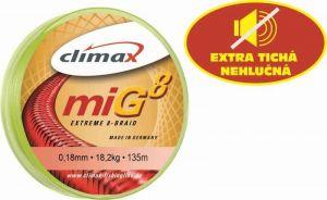 Climax šňůra 135m - miG 8 Braid Oliv,0,08/6,5kg