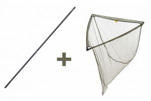Podběrák LevelM 100 x 100 cm + tyč Professional Twin