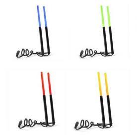 Držák prutu - svítící - výška 15cm - žlutá
