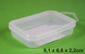 Krabička 9,1x6,6x2,2cm, 5 přihrádek