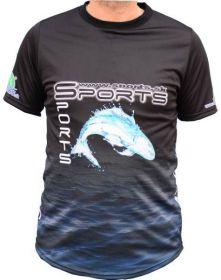 Dres SPORTS s logem ryby - černé