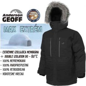 Bunda Usque Down Parka (Pirate black) vel.XS Geoff Anderson