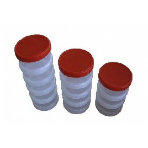 Box plastový šroubovací 5-dílný