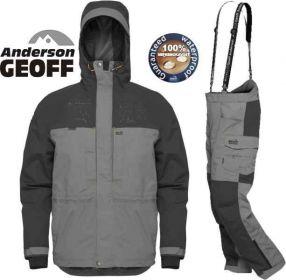 Geoff Anderson BARBARUS - bunda + kalhoty - šedá-XXL