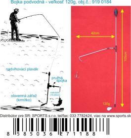 Podvodní bójka 120g / 105cm / 42cm SPORTS krmítka