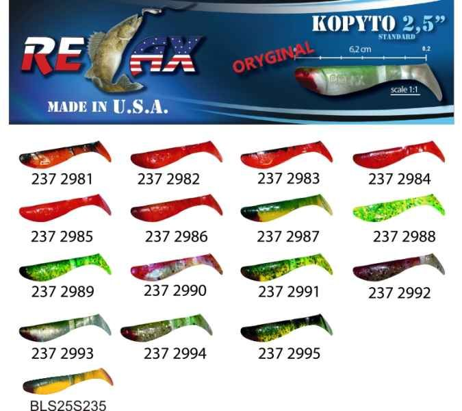 RELAX kopyto RK 2,5 (6,2cm) cena 1ks/bal10ks 235R