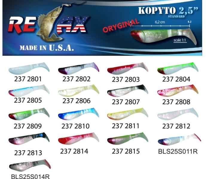RELAX kopyto RK 2,5 (6,2cm) cena 1ks/bal10ks 2807 červený ocásek