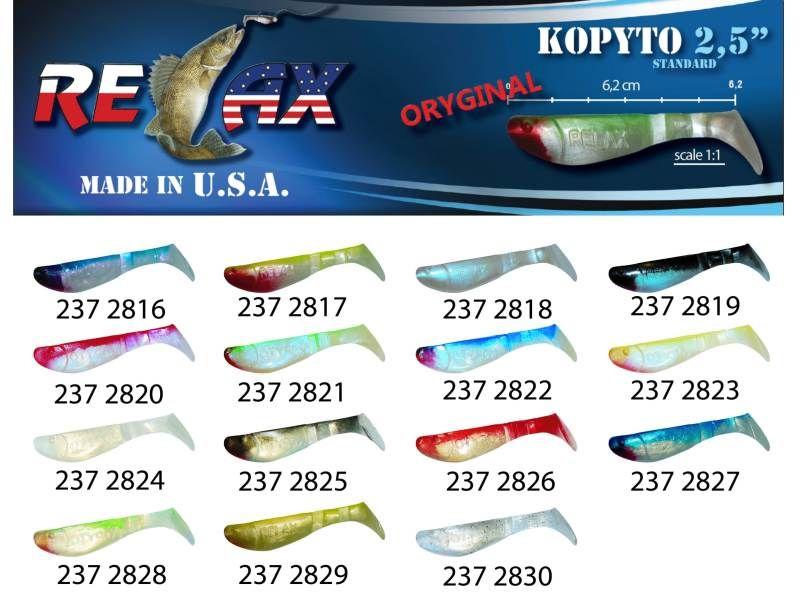 RELAX kopyto RK 2,5 (6,2cm) cena 1ks/bal10ks 2816 červený ocásek