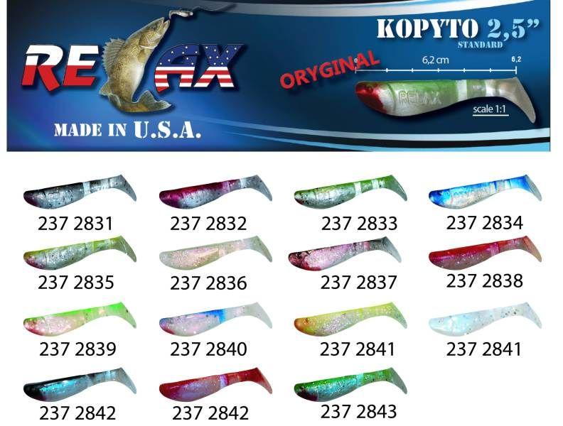 RELAX kopyto RK 2,5 (6,2cm) cena 1ks/bal10ks 2834 červený ocásek