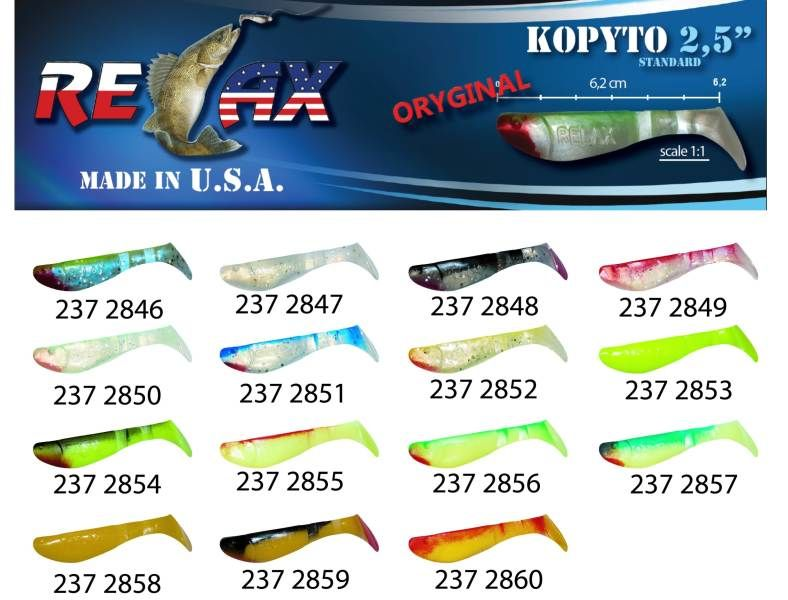 RELAX kopyto RK 2,5 (6,2cm) cena 1ks/bal10ks 2848 červený ocásek