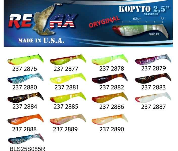 RELAX kopyto RK 2,5 (6,2cm) cena 1ks/bal10ks 2888