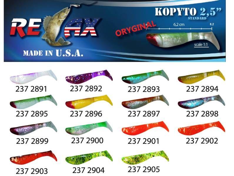 RELAX kopyto RK 2,5 (6,2cm) cena 1ks/bal10ks 2896 červený ocásek