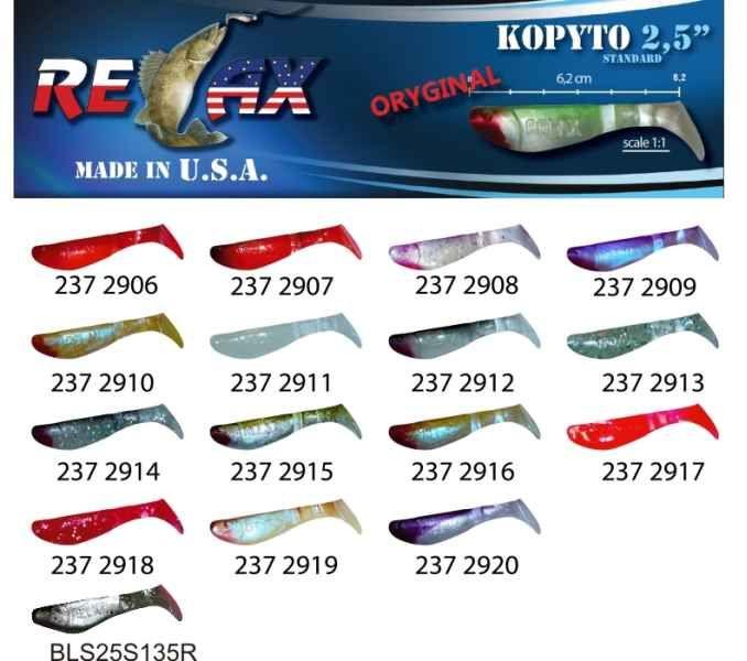 RELAX kopyto RK 2,5 (6,2cm) cena 1ks/bal10ks 2907