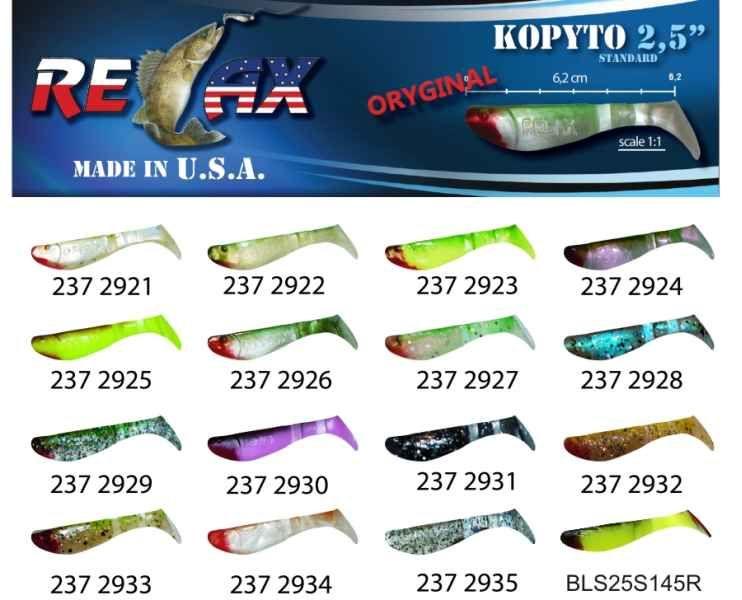 RELAX kopyto RK 2,5 (6,2cm) cena 1ks/bal10ks 2922