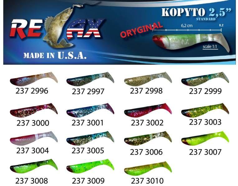 RELAX kopyto RK 2,5 (6,2cm) cena 1ks/bal10ks 3003