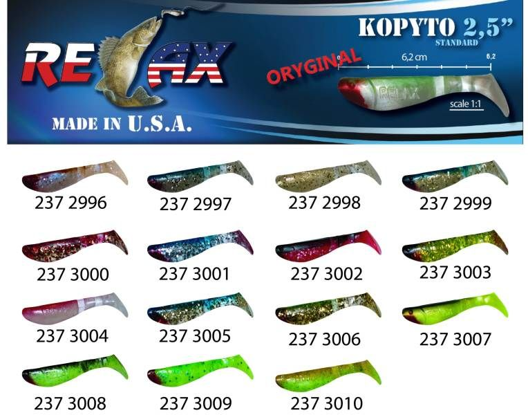 RELAX kopyto RK 2,5 (6,2cm) cena 1ks/bal10ks 3008