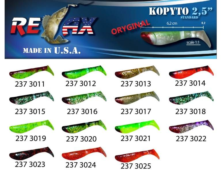 RELAX kopyto RK 2,5 (6,2cm) cena 1ks/bal10ks 3023
