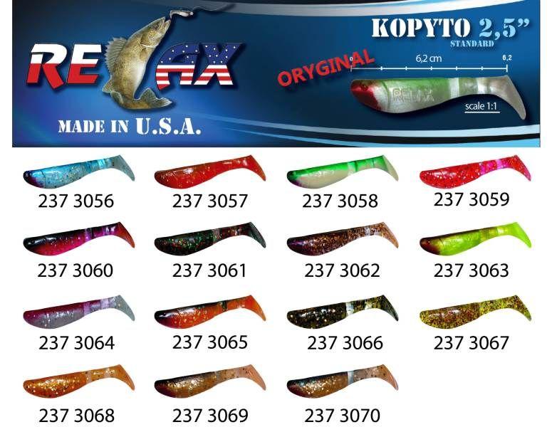 RELAX kopyto RK 2,5 (6,2cm) cena 1ks/bal10ks 3056 červený ocásek