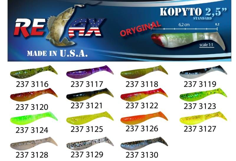 RELAX kopyto RK 2,5 (6,2cm) cena 1ks/bal10ks 3120