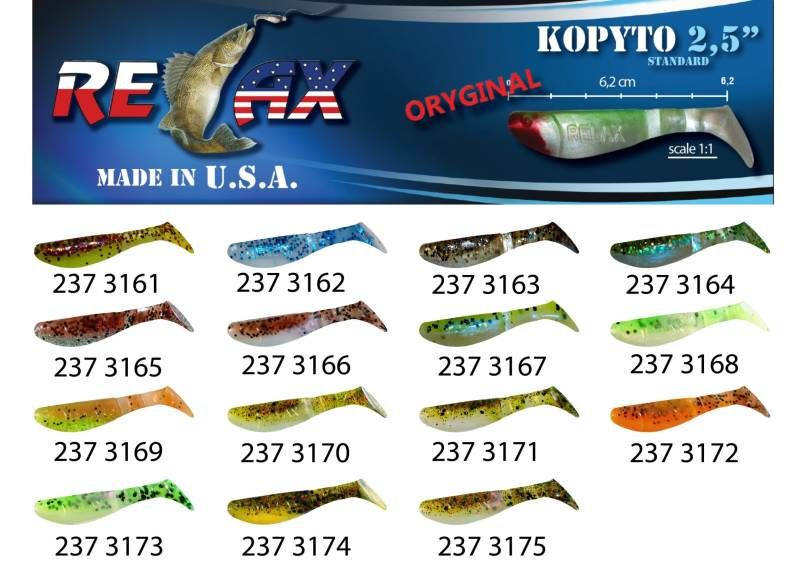 RELAX kopyto RK 2,5 (6,2cm) cena 1ks/bal10ks 3164