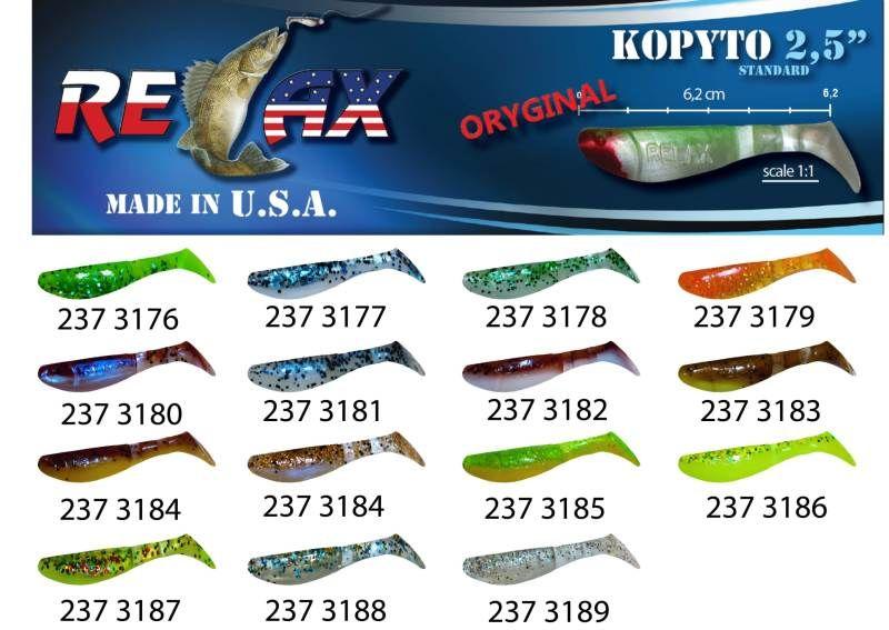 RELAX kopyto RK 2,5 (6,2cm) cena 1ks/bal10ks 3179