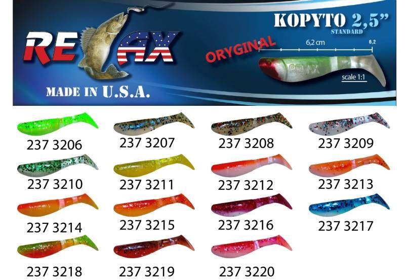 RELAX kopyto RK 2,5 (6,2cm) cena 1ks/bal10ks 3207