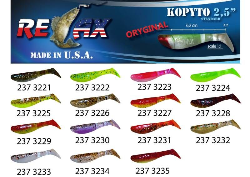 RELAX kopyto RK 2,5 (6,2cm) cena 1ks/bal10ks 3224