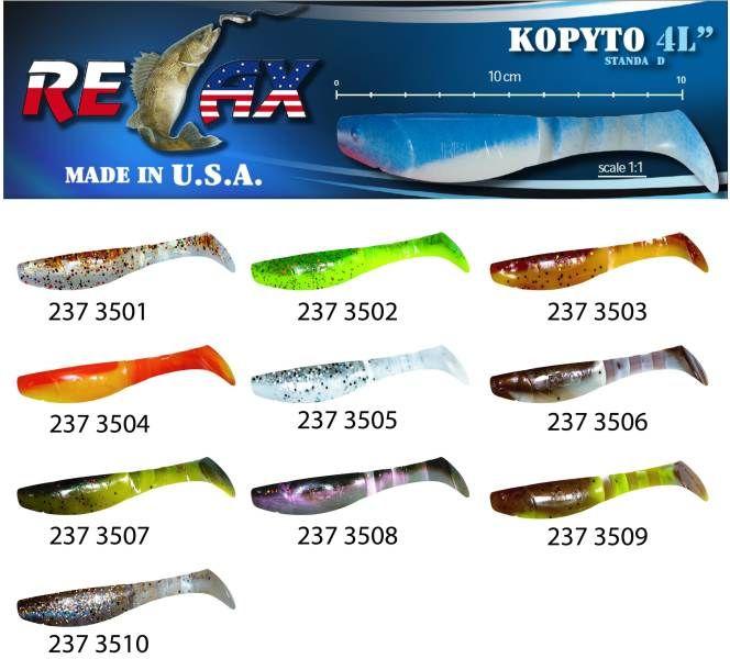 RELAX kopyto RK4-10cm - přívlačová nástraha 3505