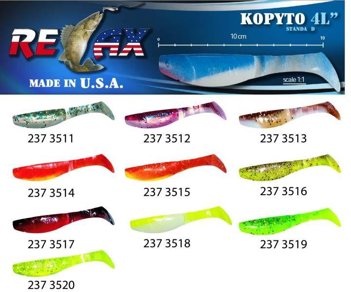 RELAX kopyto RK4-10cm - přívlačová nástraha 3520