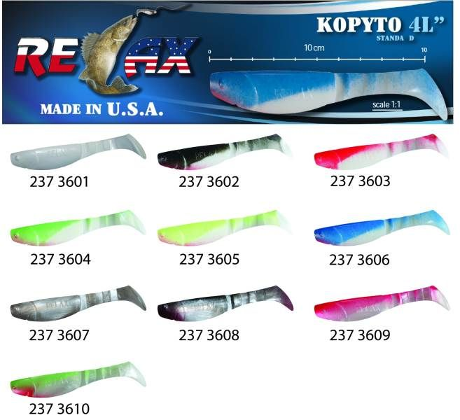 RELAX kopyto RK4-10cm - přívlačová nástraha 3603