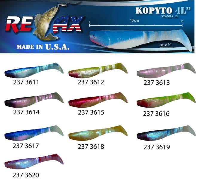 RELAX kopyto RK4-10cm - přívlačová nástraha 3617